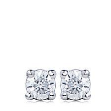 0.05ct - 0.10ct Diamond Claw Stud Earrings Platinum
