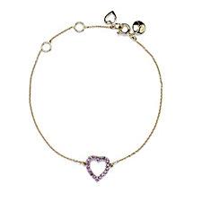 Lola Rose Semi Precious Sterling Silver Heart Bracelet