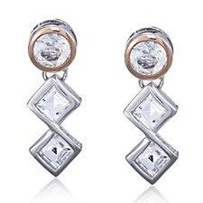 Clogau 9ct Gold & Sterling Silver Anniversary Earrings