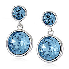 Crystal Glamour with Swarovski Crystals Double Drop Earrings
