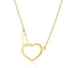 9ct Gold Linked Hearts 18