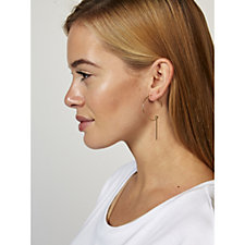 Pilgrim Linear Drop Hoop Earrings