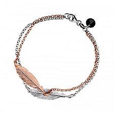 Azendi Spirited Away Double Feather Bracelet Sterling Silver