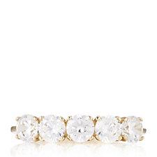Diamonique 1ct tw 5 Stone Ring 9ct Gold