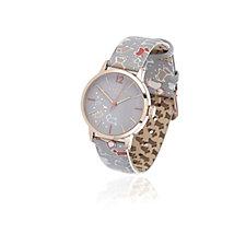 Radley London Ladies Speckled Dog Leather Strap Watch