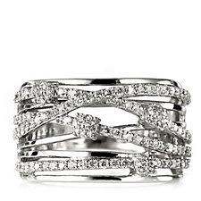 0.6ct Diamond White Christmas Ring 9ct Gold