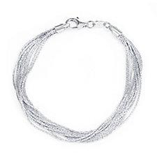 Links of London Essentials Silk 10 Row 17cm Bracelet Sterling Silver