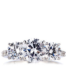 Michelle Mone for Diamonique 3.9ct tw Trilogy Ring Sterling Silver