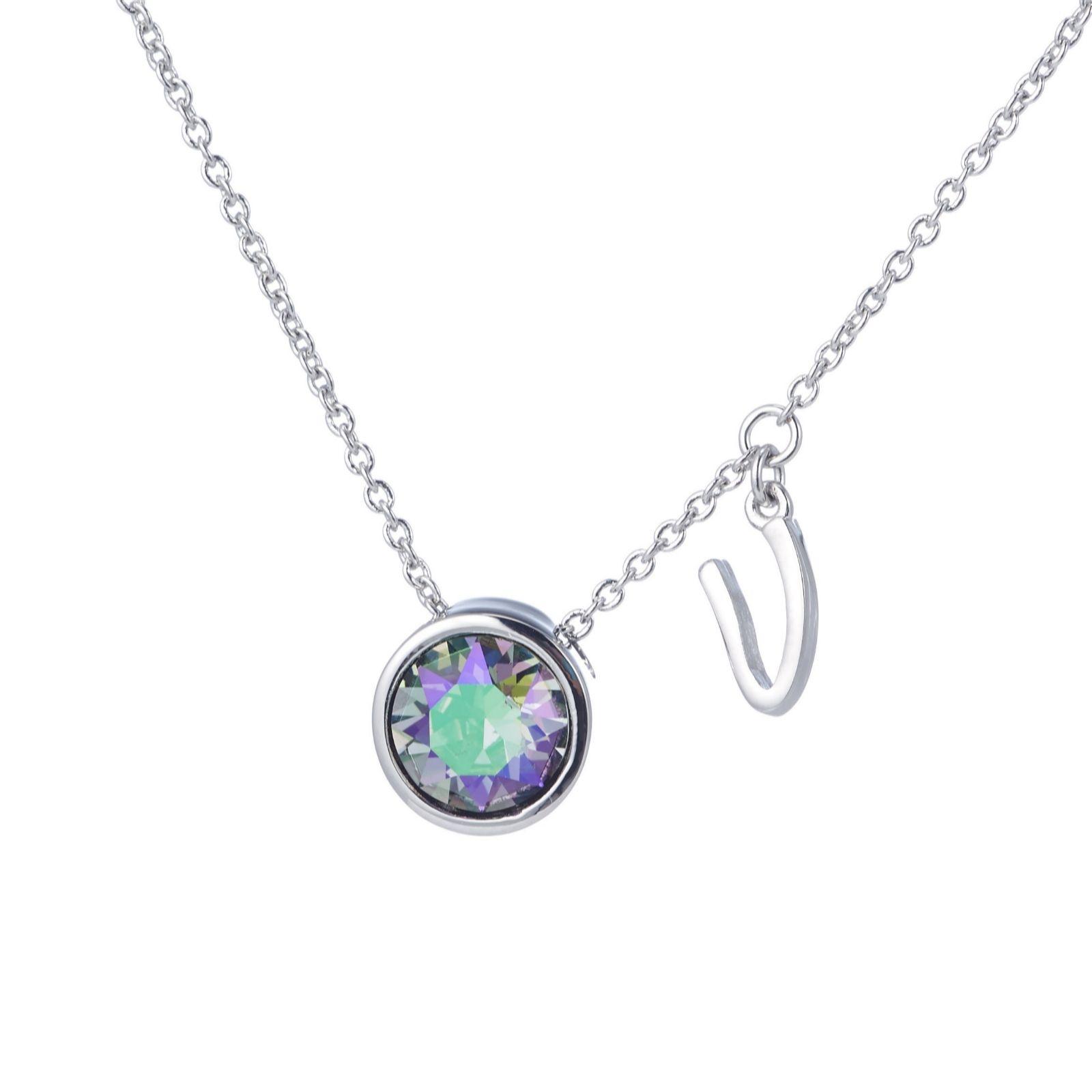 82b3642fe10ecc Outlet Aurora Swarovski Crystal Initial Charm 52cm Necklace - Page 1 - QVC  UK