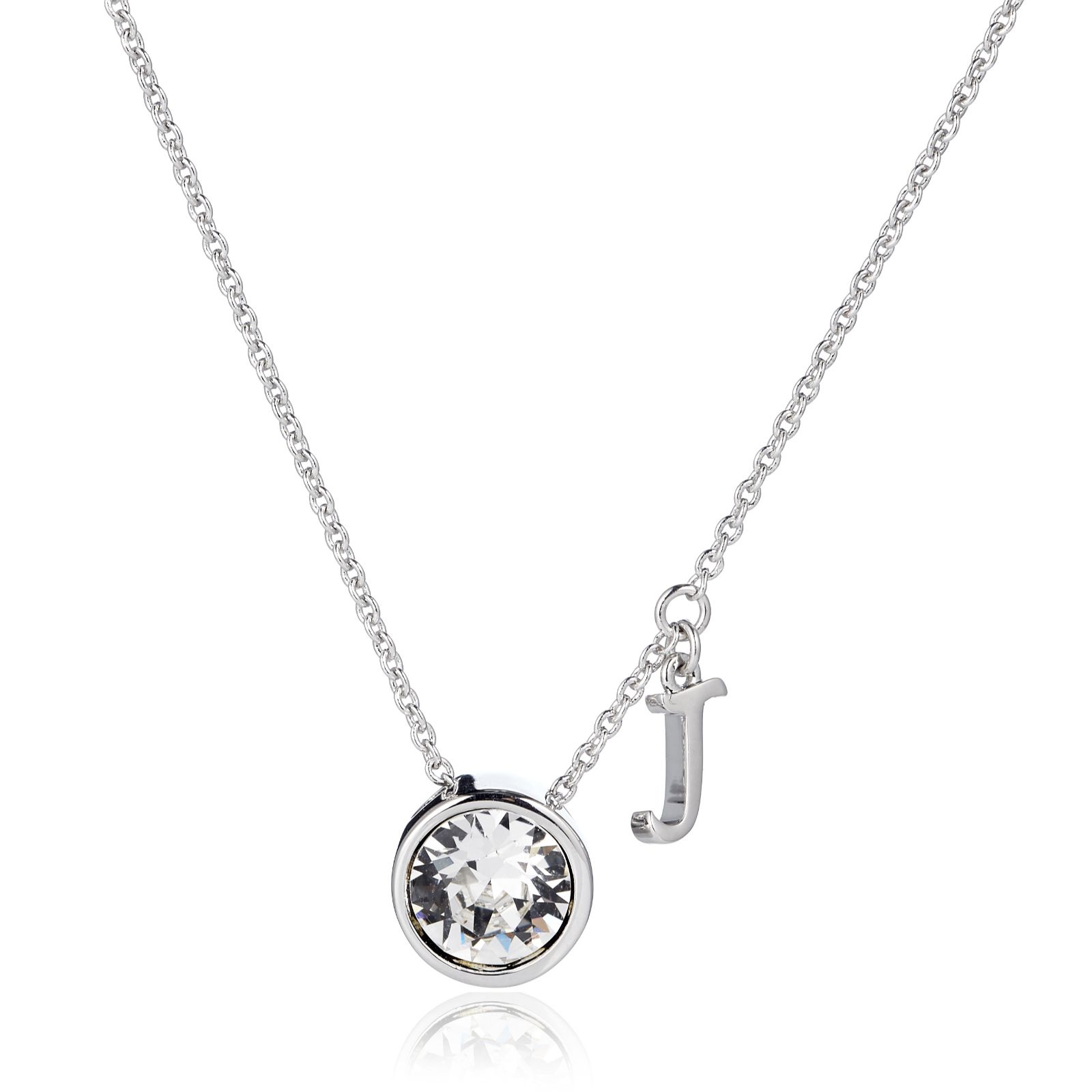 5dadad96cbe3 Outlet Aurora Swarovski Crystal Initial Charm 52cm Necklace - Page 1 - QVC  UK