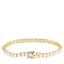 Michelle Mone for Diamonique 10-12ct tw Tennis Bracelet Sterling Silver