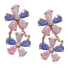 Butler & Wilson Crystal Flowers Earrings