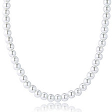 Elizabeth Taylor Simulated Pearl Classic Strand 45cm Necklace