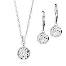 Aurora Swarovski Crystal Earrings & 52cm Necklace Set