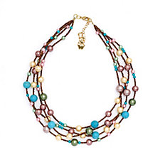 Butler & Wilson Simulated Pearl Multi Row 46cm Necklace
