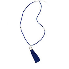 Bill Skinner Tiger Tassel Pendant 73cm Necklace