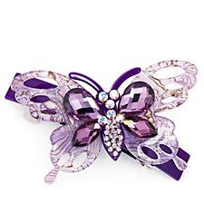 Butler & Wilson Crystal Butterfly Hair Clip