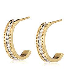 0.25ct Diamond Hoop Earrings 9ct Gold