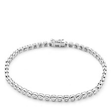 0.15ct Diamond Tennis 19cm Bracelet Sterling Silver
