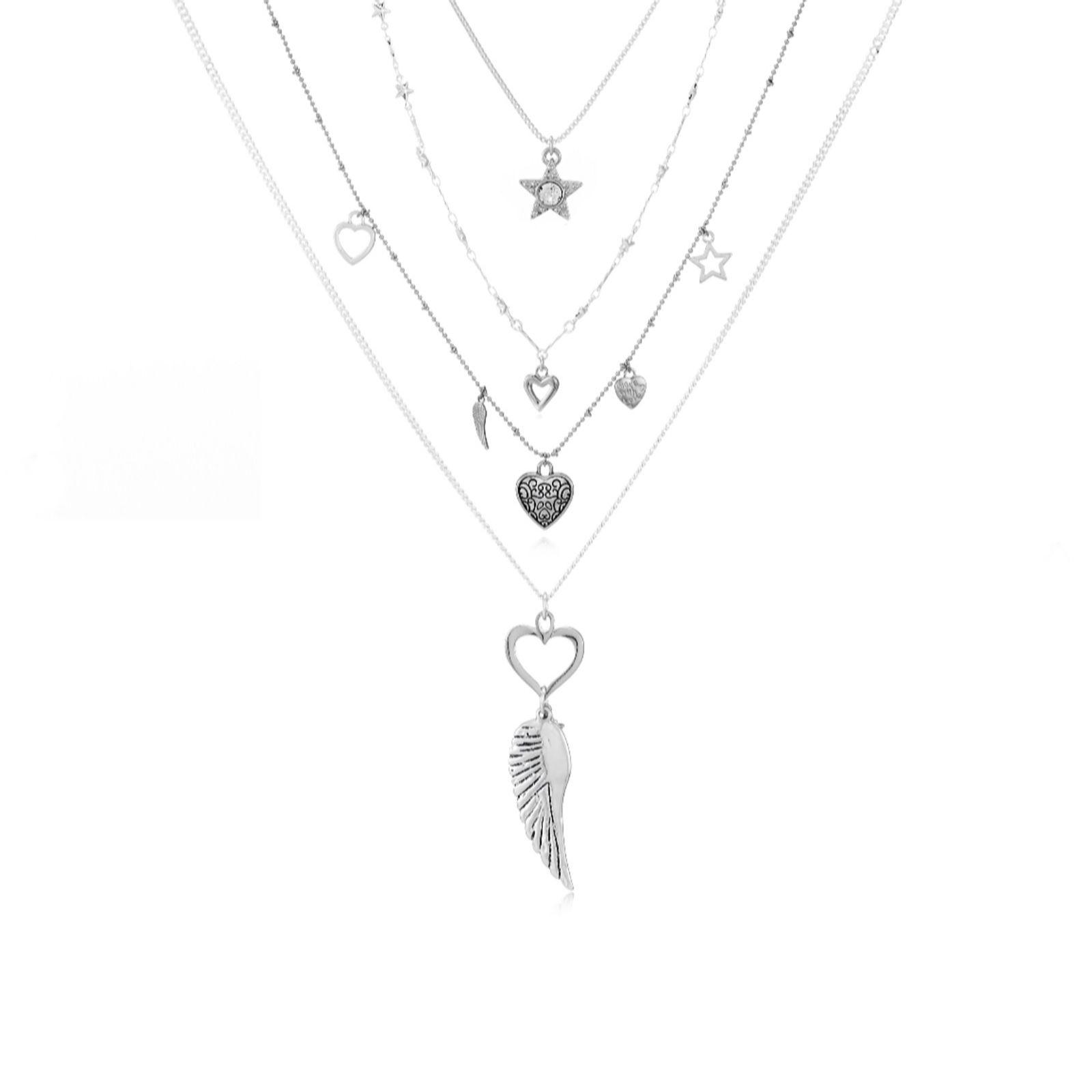 3fa7d8840f055e Bibi Bijoux Set of 4 Charm Necklaces - QVC UK