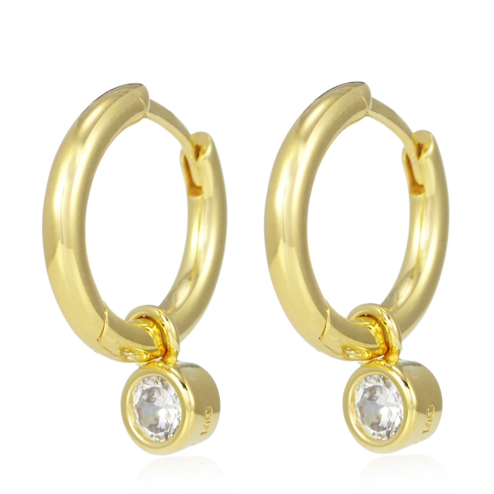 3c353455ef994 Escape by Melissa Odabash Motif Hoop Earrings Sterling Silver - QVC UK