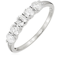 1.00ct Diamond 5 Stone Eternity Ring 14ct Gold