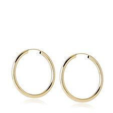 9ct Gold Delicate Everyday Hoop Earrings