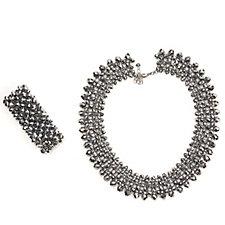 Loverocks Bead Necklace & Bracelet Set