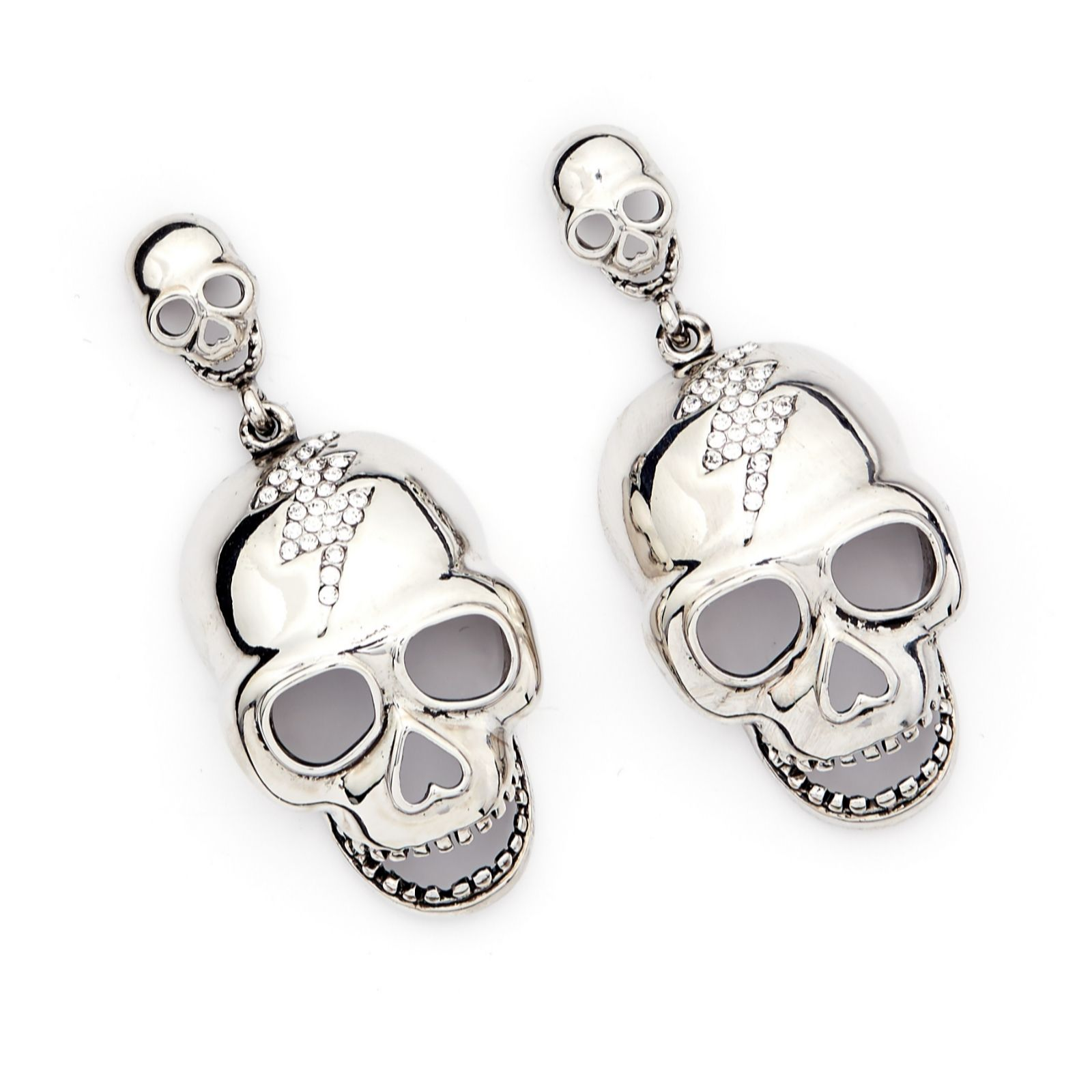 a20e76cb7 Butler & Wilson Crystal Skull Drop Earrings - QVC UK