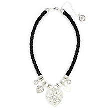Bibi Bijoux Angel Wing Leather 52cm Necklace