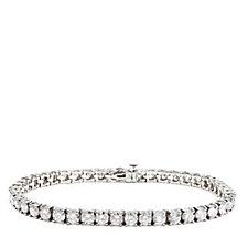 11.00ct Diamond Tennis 19cm Bracelet 14ct Gold