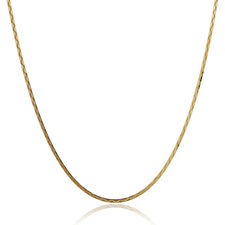 14ct Gold Flat Herringbone Chain Necklace