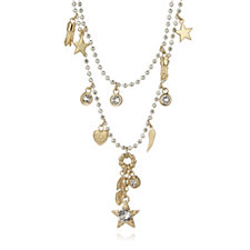 Bibi Bijoux Star & Crystal Charm 46cm Necklace