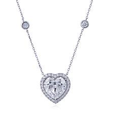Michelle Mone for Diamonique Breast Cancer Care Pendant & Chain Sterling Silver