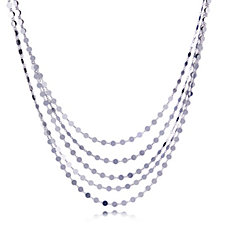 Bianca Platinum Plated Multistrand 45cm Necklace Sterling Silver