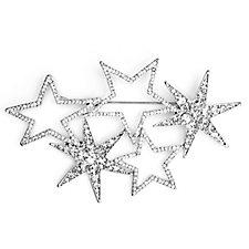 Loverocks Crystal Stars Brooch