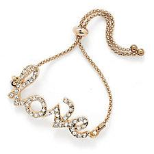 Loverocks Crystal Pave Love Bracelet