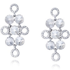 loveRocks Crystal Diamond Shape Drop Earrings
