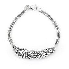 Georgiana by G Scott Popcorn 19cm Bracelet Sterling Silver