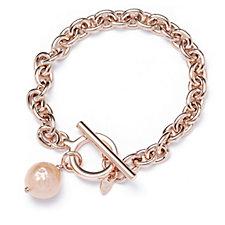 Honora 11-12mm Cultured Ming Pearl T-Bar Bracelet Bronze