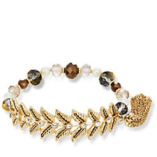 Lonna & Lilly Floral Bead Stretch Bracelet