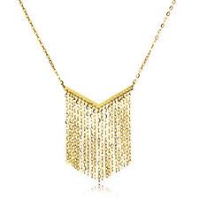 9ct Gold Forzatina Fringe 45cm Necklace