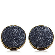 9ct Stardust Button Stud Earrings