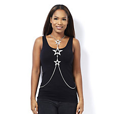 Butler & Wilson Couture Triple Star Body Chain