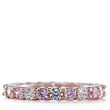 Diamonique 0.2ct tw Full Eternity Ring Sterling Silver