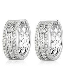 1.00ct H SI2 Fire Light Lab Grown Diamond Huggie Earrings 18ct Gold