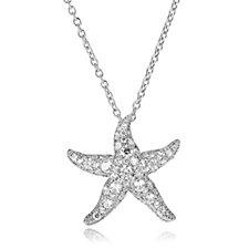 Elizabeth Taylor Simulated Diamond Starfish 46cm Necklace