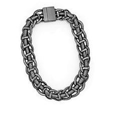 Frank Usher Woven Mesh Magnetic 51cm Necklace