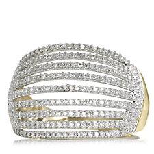 0.5ct Diamond Multi Row Cocktail Ring 9ct Gold