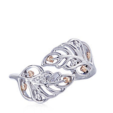 Clogau 9ct Rose Gold & Sterling Silver Debutante Feather Ring